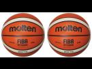 Molten Indoor Basketball GG7X 2 Stück Premium Synthetik-Leder FIBA Wettspielball Größe 7