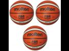 Molten Indoor Basketball GG7X 3 Stück Premium Synthetik-Leder FIBA Wettspielball Größe 7