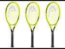 3x Head Extreme Lite Graphene 360 Tennisschläger