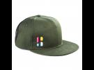 Poederbaas Snapback Schildmütze mit Emblem - grün Caps