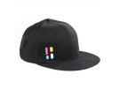 Poederbaas Snapback Schildmütze mit Emblem - schwarz Caps